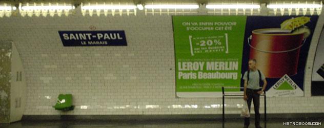 paris metro(パリのメトロ)Saint-Paul></div>  <div id=