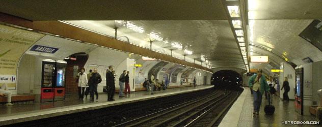 パリのメトロ Station de Métro parisien Bastille