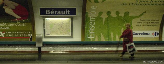 パリのメトロ Station de Métro parisien Bérault