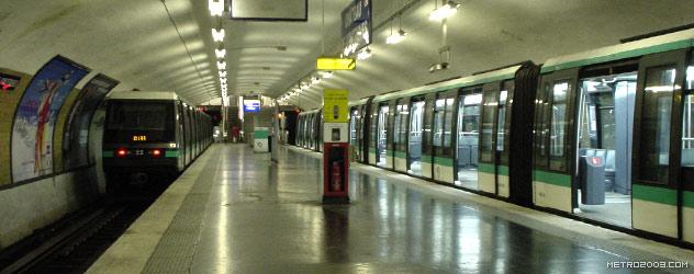 パリのメトロ Station de Métro parisien Château de Vincennes