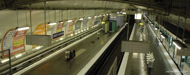 パリのメトロ Station de Métro parisien Porte d'Auteuil