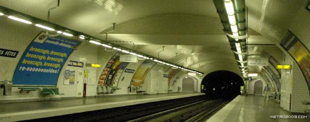 paris metro(パリのメトロ)Place des Fêtes></div>  <div id=