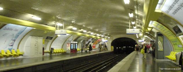パリのメトロ Station de Métro parisien Anvers