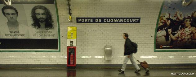 paris metro(パリのメトロ)Porte de Clignancourt></div>  <div id=