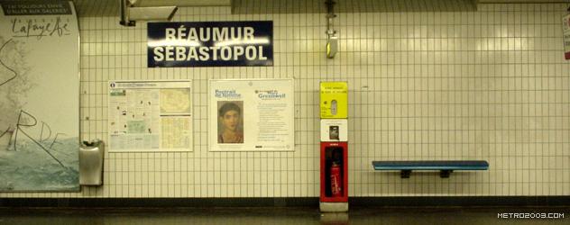 paris metro(パリのメトロ)Réaumur-Sébastopol></div>  <div id=