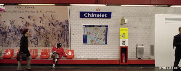 paris metro(パリのメトロ)Châtelet></div>  <div id=
