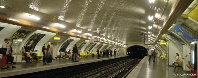 パリのメトロ Station de Métro parisien Odéon