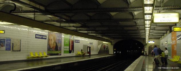 パリのメトロ Station de Métro parisien Bréguet-Sabin