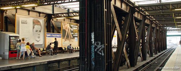 パリのメトロ Station de Métro parisien Gare d'Austerlitz