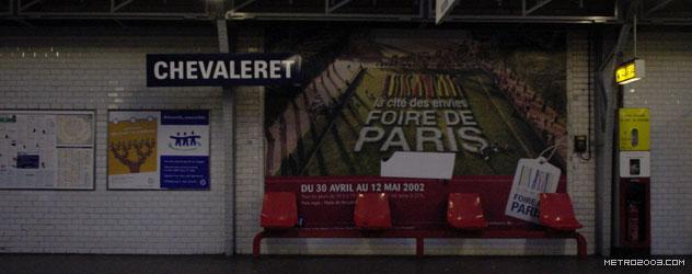パリのメトロ Station de Métro parisien Chevaleret