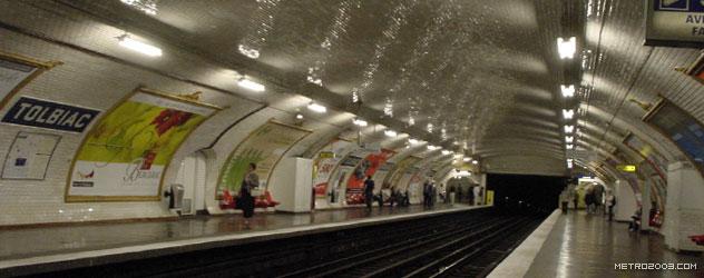 パリのメトロ Station de Métro parisien Tolbiac