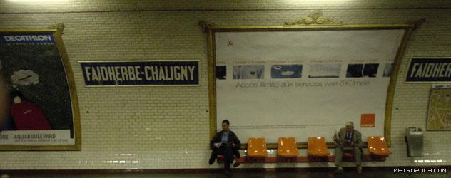 パリのメトロ Station de Métro parisien Faidherbe-Chaligny