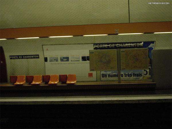 porte de charenton ポルト ドゥ シャラントン駅 パリの地下鉄 メトロ metro a